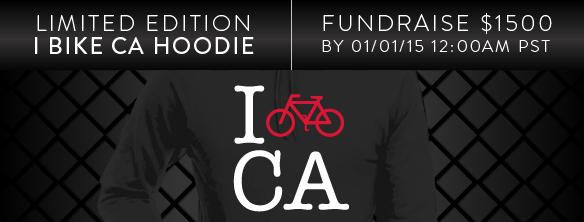I Bike CA Hoodie